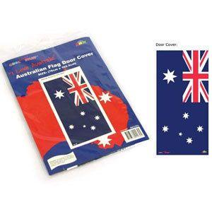 Party Time Celebrations  - Australian Flag Door Cover, $4.95 (http://www.partytimecelebrations.com.au/australian-flag-door-cover/)