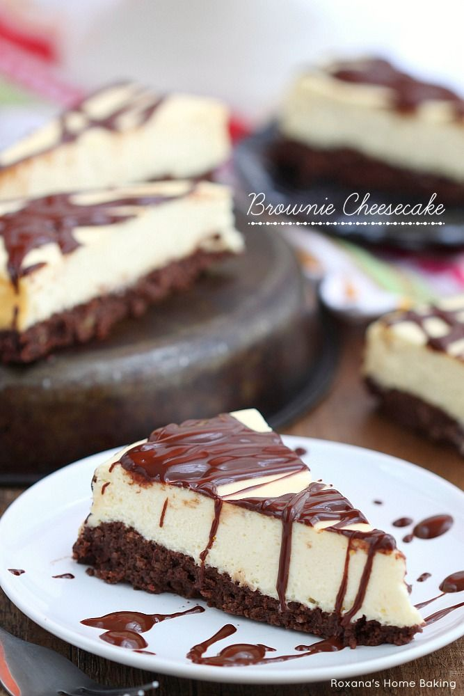 Rich nutty brownie topped with the lightest cheesecake I've ever made. This is the ultimate, guilt free brownie cheesecake!