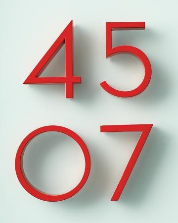Neutra House Numbers via marthastewartweddings.com