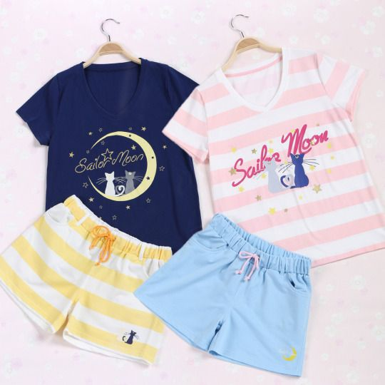 "Sailor moon t-shirt & shorts set  $34.00 enter ""thingsfromjapan"" for 10% off http://thingsfromjapan.net/sweet-japanese-sailor-moon-suit/ #sailor moon #Japanese anime #Japanese fashion"