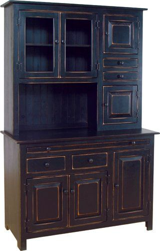 black antique kitchen cabinets - Google Search   Antique ...