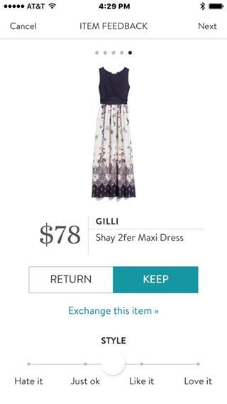 Gilli Shay 2fer Maxi Dress. I love Stitch Fix! A personalized styling service and it's amazing!! Simply fill out a style profile with sizing and preferences. Then your very own stylist selects 5 pieces to send to you to try out at home. Keep what you love and return what you don't. Only a $20 fee which is also applied to anything you keep. Plus, if you keep all 5 pieces you get 25% off! Free shipping both ways. Schedule your first fix using the link below! #stitchfix @stitchfix. Stitchfix…