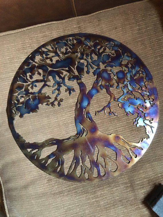 Tree of Life Metal Wall Art Home Decor Heat Treated