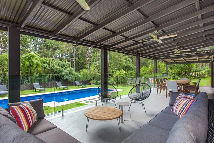 The Rainforest, a Luxico Holiday Home -A tranquil private paradise, this 3 bedroom and 3 bathroom house with cheerful splashes of colour makes the perfect holiday home for families, couples, and small corporate groups alike - Book it here: http://luxico.com.au/therainforestbyronbay