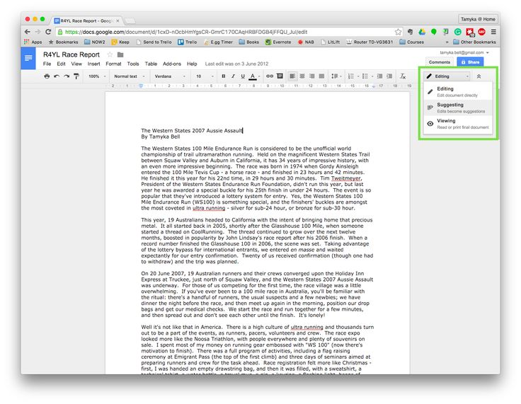 Editing and collaborating in Google Docs - guest blog for Australian Writers' Centre