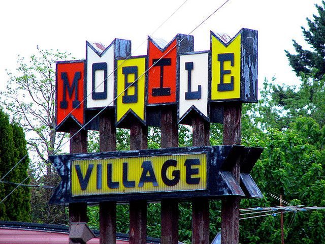 Cool Vintage Trailer Park Sign