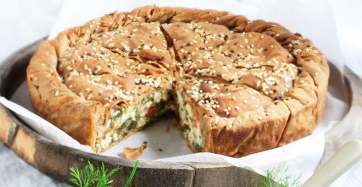 Πίτα Ολικής 'Αλεσης με βλίτα, ντοματίνια & φέτα