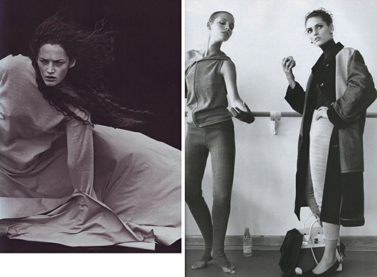 1998 Фото Стивена Майзела для итальянского Vogue, октябрь;  и фото Марио Тестино для французского Vogue, ноябрь