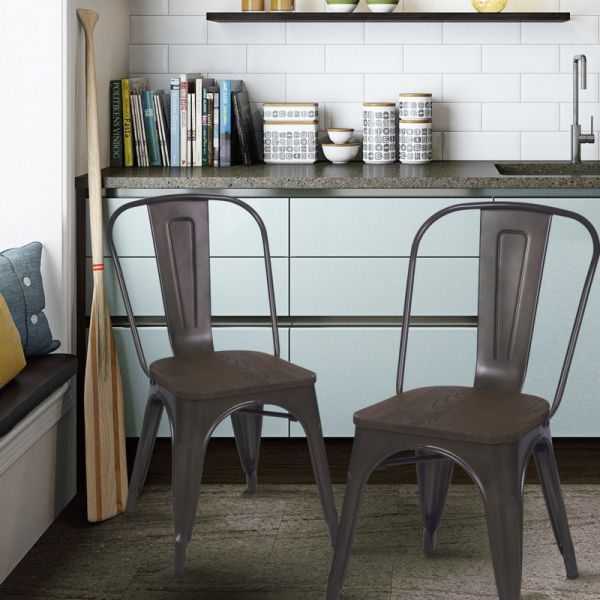 Metal Dining Chairs Industrial best 25+ metal dining chairs ideas on pinterest | farmhouse chairs