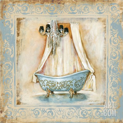 Elegant Bath I Print by Gregory Gorham at eu.art.com