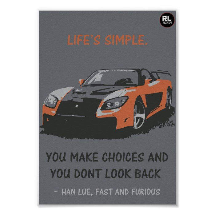 Fast And Furious Quote Poster Zazzle Com Fast And Furious Quote Posters Fast And Furious Memes