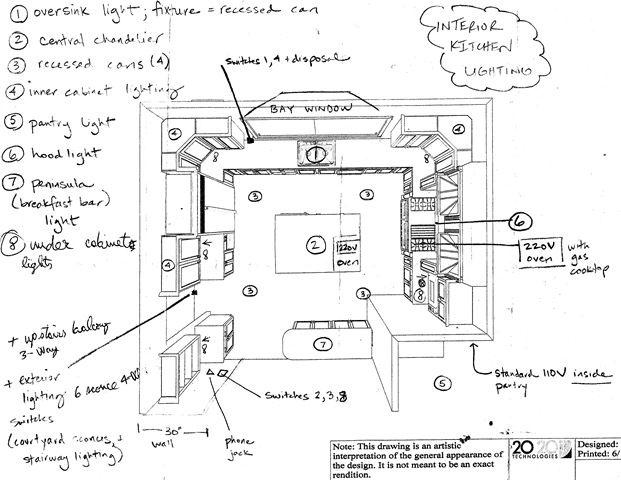 Kitchen Lighting Plan: kitchen lighting plans. plans plan ...,Lighting