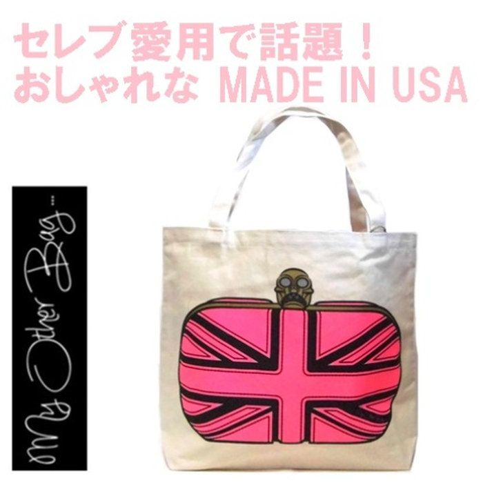 MyOtherBag(マイアザーバッグ)アメリカのトートバッグELIZABETHHOTPINKbagエリザベスホットピンクプリントバックmadeinUSA鞄海外ブランド