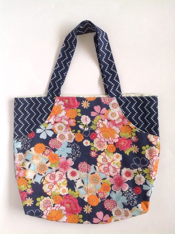 Ladies Handmade Denim & Floral Shopper tote school library Dance or casual bag