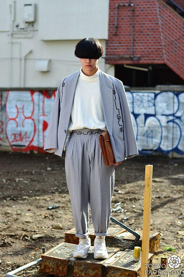 Name: Kazuki Jacket: Austin Kane Pants: Austin Kane Shirt: Uniqlo Shoes: Reebok Bag: Vintage - See more at: http://www.tokyofaces.com/page/6/#sthash.GFhmoU7r.dpuf