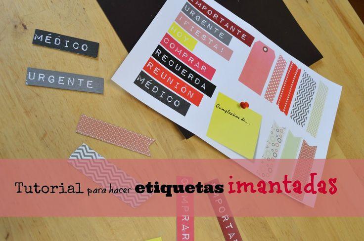 Tutorial para hacer etiquetas imantadas (con descargable gratuito). | Elenarte