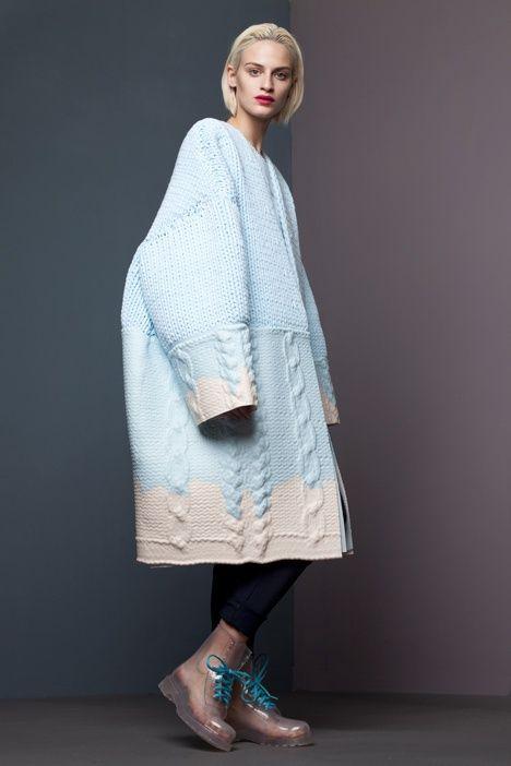 Коллекция женской одежды 2013 от Ксиао Ли на фэшн-шоу Royal College of Arts, Лондон