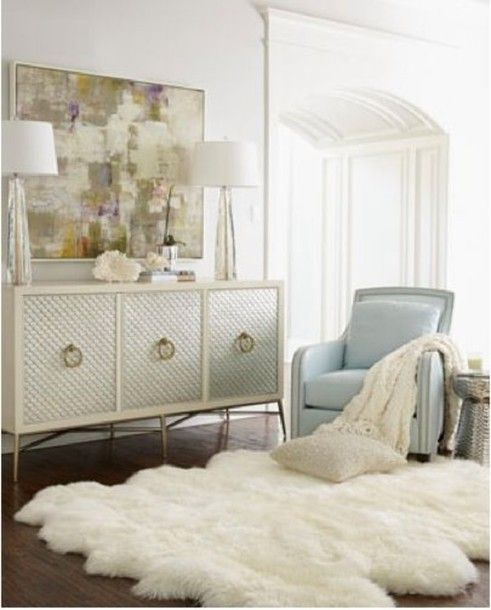 Love that rug and that dresser!!