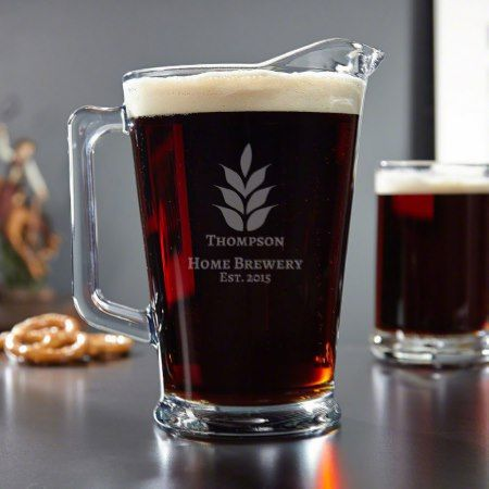 Naturally Brewed Personalized Beer Pitcher - click/tap to personalize and buy