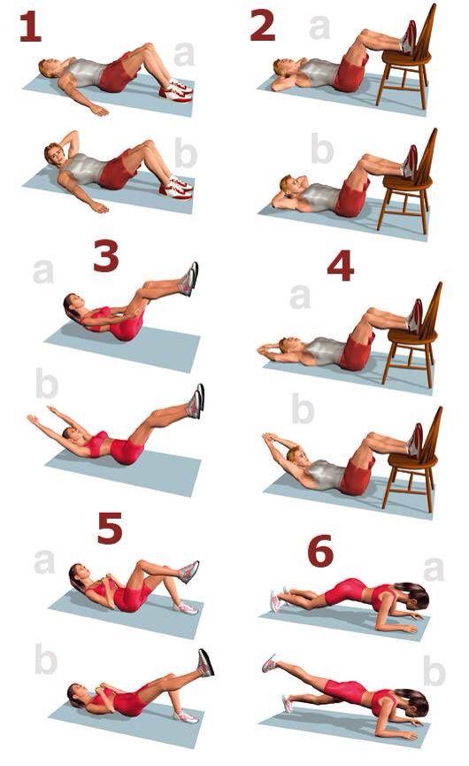 Las 25 mejores ideas sobre ejercicios para tener un vientre plano en pinterest ejercicios de - Ejercicios para adelgazar barriga en casa ...