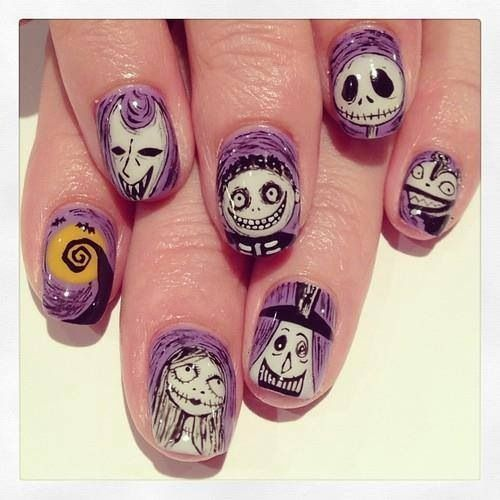 The Nightmare Before Christmas art nails - 37 Best Night Before Christmas Nail Art Images On Pinterest The