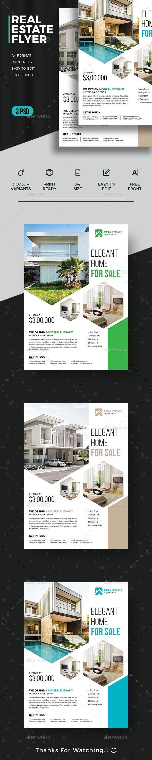 #Real #Estate #Flyer - Commerce Flyers Download here: https://graphicriver.net/item/real-estate-flyer/19550607?ref=alena994 #realestatebusiness
