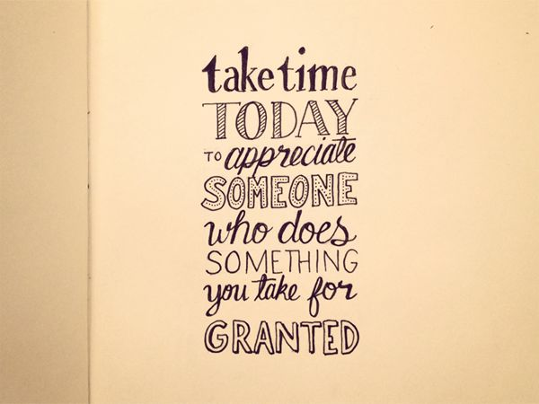 Take time today
