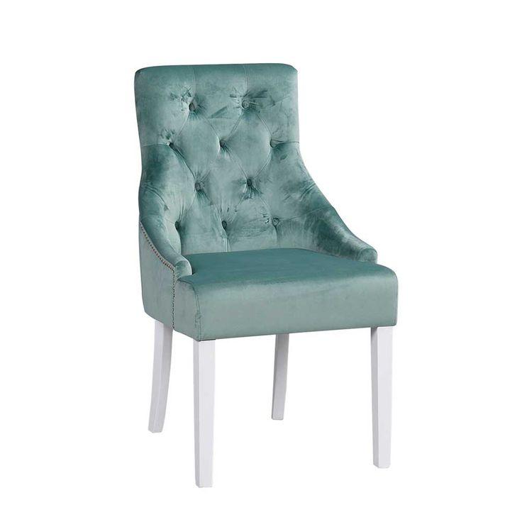 Stuhl Set In Grün Weiß Stoff Chesterfield (2er Set) Jetzt Bestellen Unter:  Https://moebel.ladendirekt.de/kueche Und Esszimmer/stuehle Und Hocker/ ...
