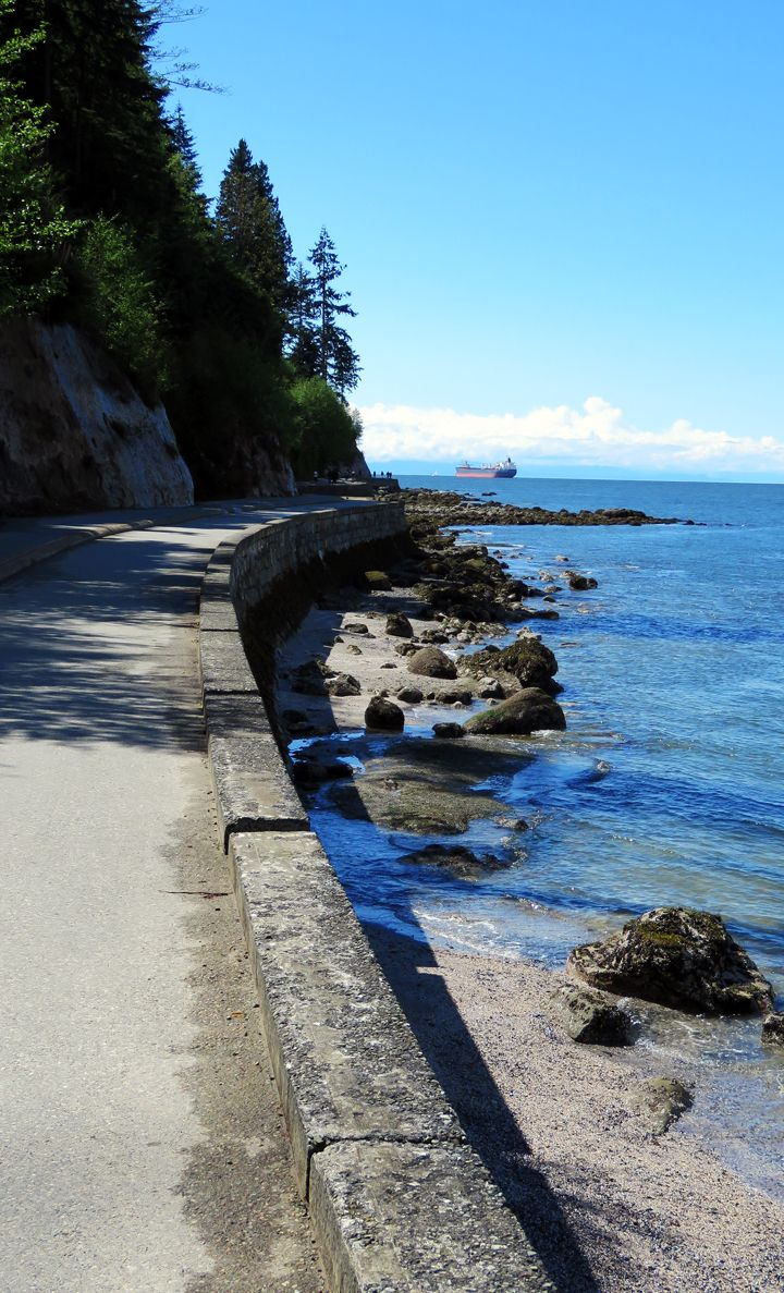 On the seawall around Stanley Park, Vancouver