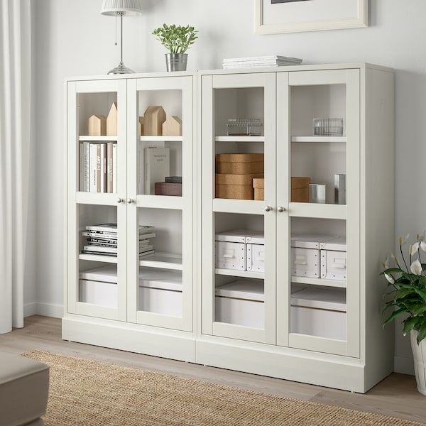 Havsta Storage Combination W Glass Doors White 63 3 4x14 5 8x52 3 4 Order Here Ikea Glass Cabinet Doors Glass Door Ikea Living Room