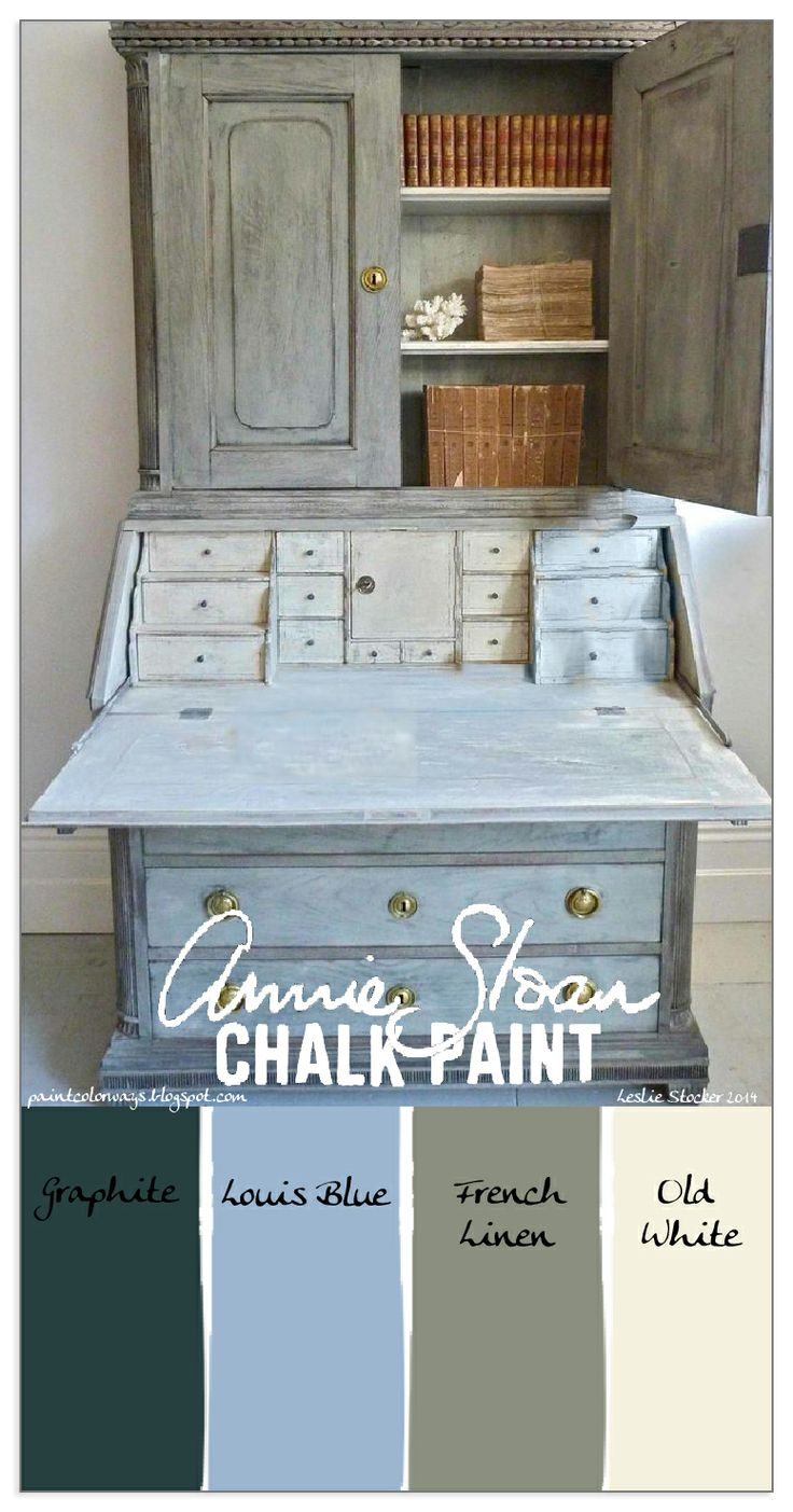 COLORWAYS Gustavian Secretary as inspiration. Annie Sloan Chalk Paint