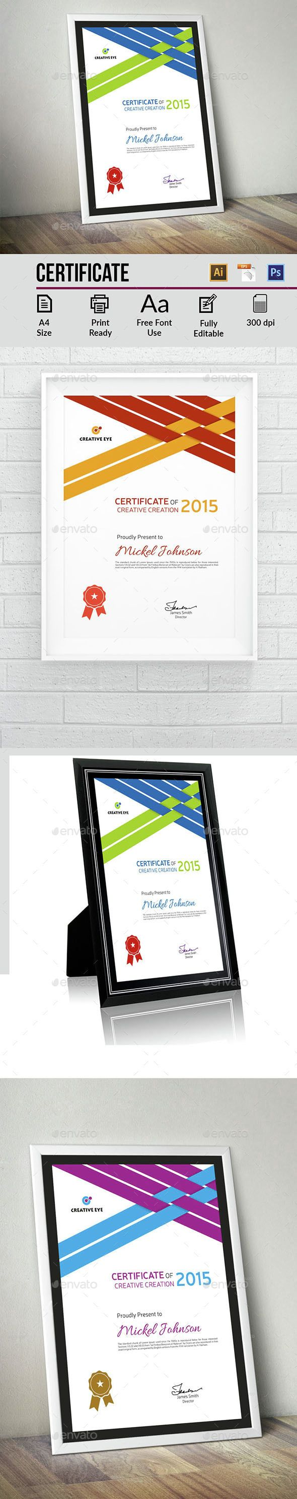 #Certificate - Certificates Stationery Download here: https://graphicriver.net/item/certificate/14649203?ref=alena994