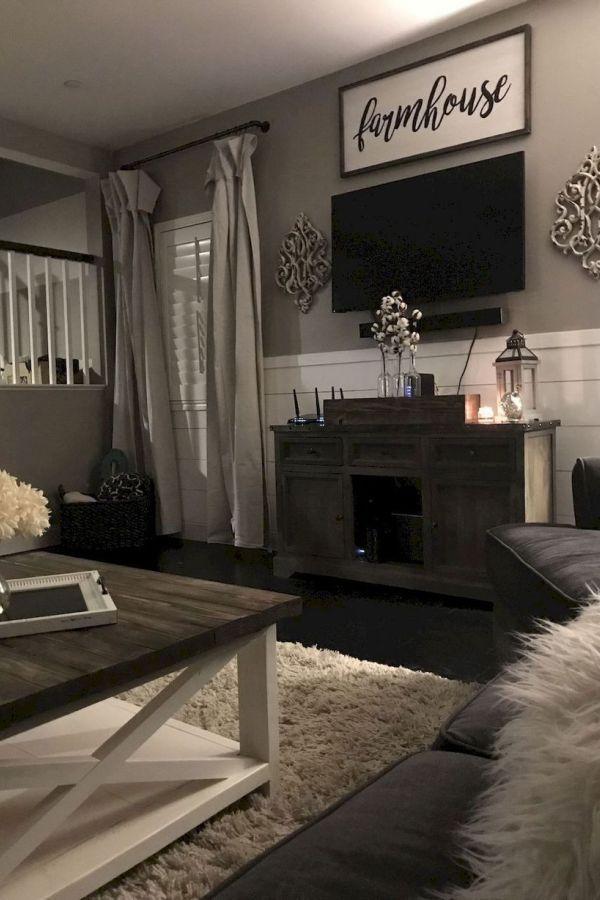 32 Perfect Farmhouse Living Room Decor Ideas En 2020 Salons De