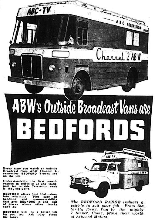ABW Outside Broadcast Vans - Bedford. Advert