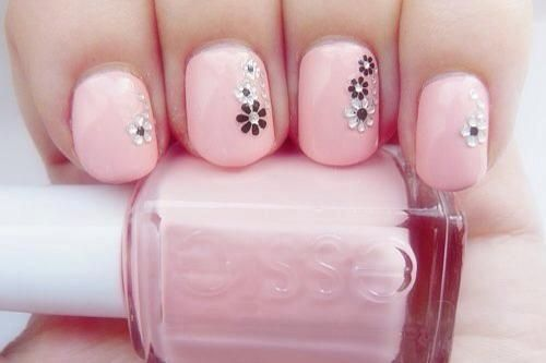 flowery~Pink nails