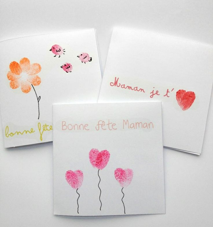 Carte de vœux empreinte