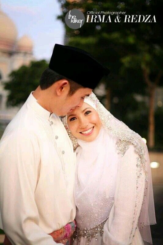 Newleyweds couple after solemnization (aqad nikah) ceremony.