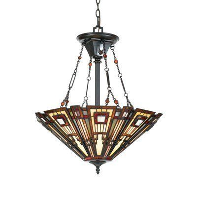 Quoizel TFCC2822VA 3 Light Classic Craftsman Bowl Large Pendant, Valiant Bronze