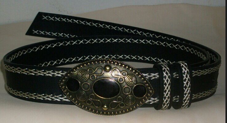 Cinturón tejido para dama en cuero