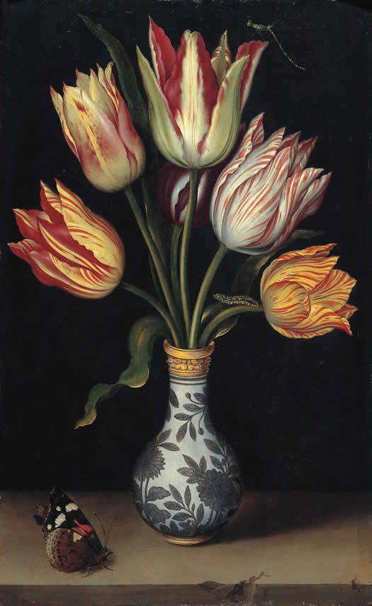 Ambrosio Bosschaert, Tulips in a WanLi vase c. 1619