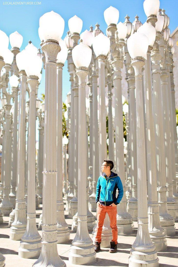 Urban Light LACMA / Los Angeles County Museum of Art.