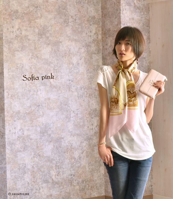 Y. (Dottowai) jacht 88 × 88 zijde twill model foto Sofia roze in Yokohama sjaal plein Hermes patroon harnas patroon paard patroon slang patroon 100% zijden sjaal grootformaat merk Mother's Day vrouw verjaardagscadeau