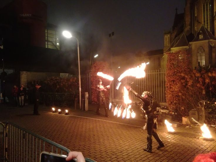 From the fire show outside 013 before Black X-mas 2016