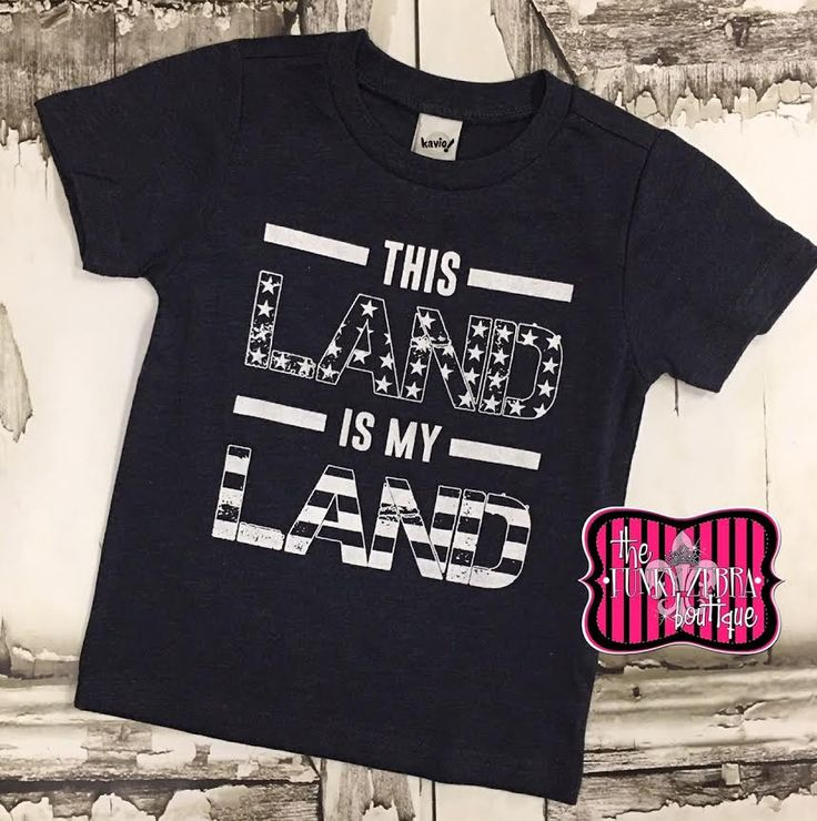 This Land is My Land Heather Navy Tee Size 2T-10/12