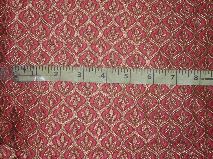 """Brocade Fabric Bubblegum Pink x Gold Color 48"""""""