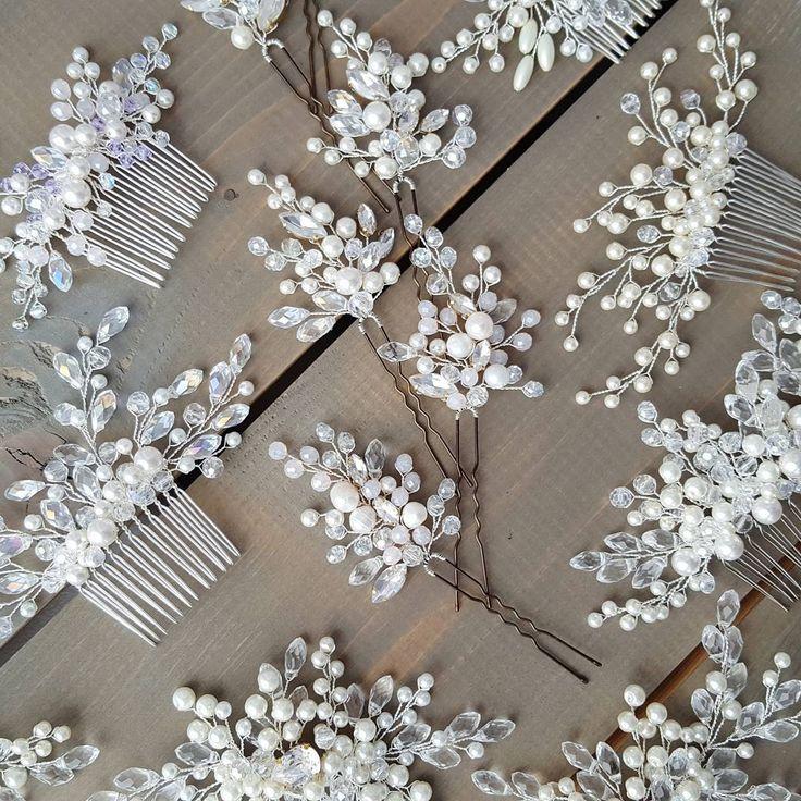 """74 Likes, 10 Comments - Alferova Olga (@olga_alferova_wedding) on Instagram: """"Невесты, для вас все самое красивое!  Свадебная классика: гребни, шпилечки, веточки и обручи - они…"""""""