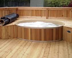 Image result for hottubs flush with deck