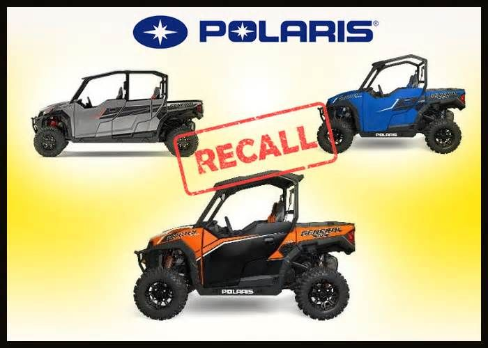 Polaris Recalls General Off-Road Vehicles Off-road vehicle maker Polaris Industries Inc. has recalled around 19,000 General side-by-side recreational off-highway vehicles or ROVs due to crash hazard. According to the U.S. Consumer Product Safety Commission recall notice, the steering wheel shaft ...
