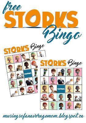 free printable storks movie bingo