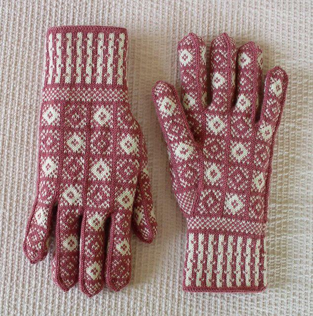 Ravelry: Project Gallery for Duke Design Sanquhar Gloves pattern by Scottish Women's Rural Institute (SWRI)